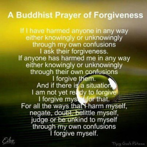 ... Facebook page what was described as a Buddhist prayer of forgiveness