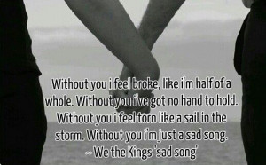 We The Kings Song Lyrics Sad song ~ we the kings