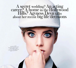 Agyness Deyn Channels Twiggy Like Crazy In InStyle UK