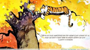 "We're so busy"" -Calvin & Hobbes"