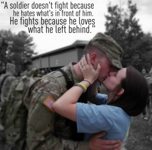 Soldier Does Not Fight Because He Hates Quote