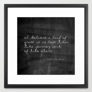 ... Print - Walt Whitman Quote - Leaf of Grass - Quotes - Typography