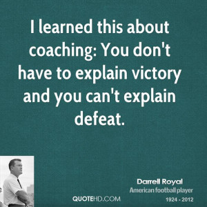 Learned This About Coaching You Don Have Explain Victory And