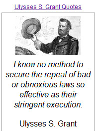 quotes made by ulysses s grant who served as the 18th president of the ...