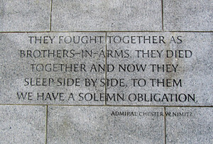 American War Quotes World war ii memorial and the