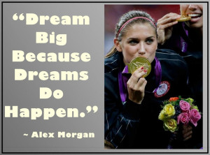 Alex Morgan Olympic Soccer Gold Medal Photo Quote Wall Art Mini Poster ...