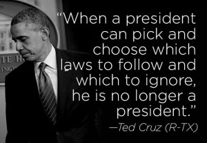 When a president can pick and choose which laws to follow and which to ...