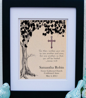 for Confirmation - Gift from Godparents - Girls confirmation - Bible ...