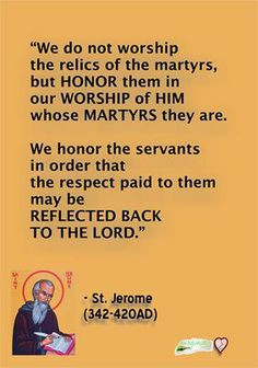 saint jerome on saint and relic veneration