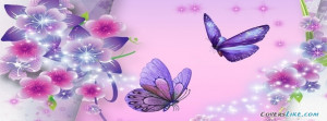 Purple Butterflies Facebook Timeline Cover