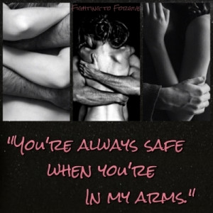 she feels safe and fortable with him