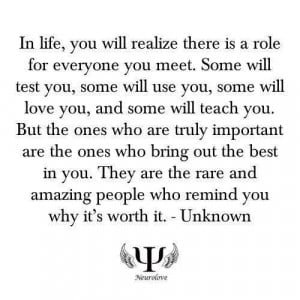 Truly important people in your life