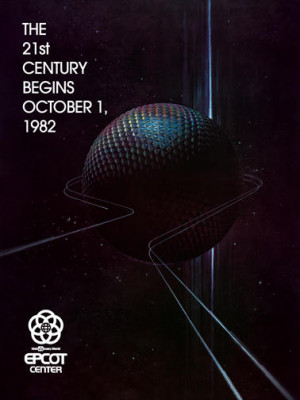 EPCOT DISNEY PRE-OPENING POSTER 1981-1982