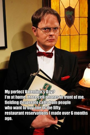 Dwight Schrute: Anti-Ladies Man /The Office / #TheOffice Valentine'S ...