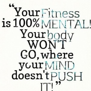 Get your mind right and get to it!