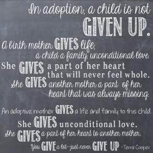 Adoption Quote Terra Cooper