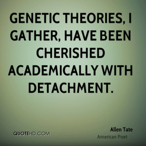 Genetic theories, I gather, have been cherished academically with ...