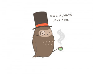 cute, owl, quote, typography
