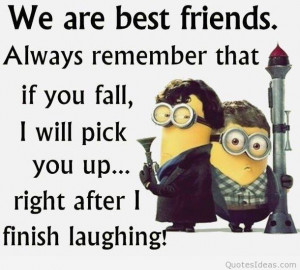 We are best friends funny minions quote