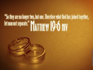 Matthew 19:6 – Let Man Not Separate Papel de Parede Imagem