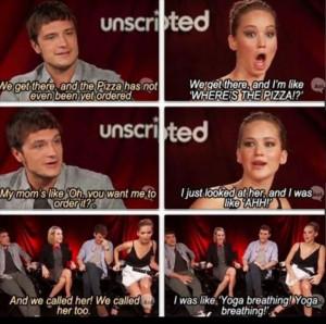 Jennifer Lawrence and Josh Hutcherson have the best bromance or ...