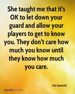 Pat Summitt Quotes
