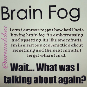 Brain Fog #fibro #fibromyalgia
