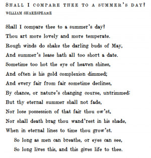 Shakespeare Love Quotes Sonnet 18 ~ 20+ Poetry On Love | WeLoveStyles.