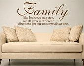 Family like branches on a tree large size Vinyl wall decal