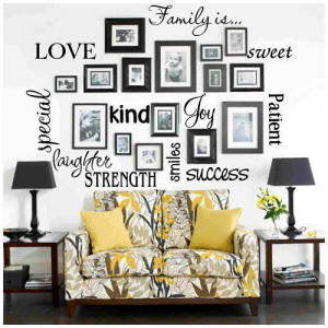 Family is word collage Vinyl Wall Decal Sticker Quote Art on Etsy, $20 ...