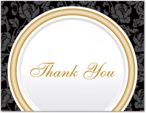 Thank You Quotes Dinner Party
