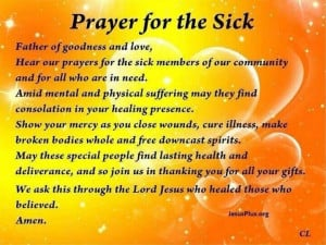 Prayer Quotes For The Sick Prayer for the sick