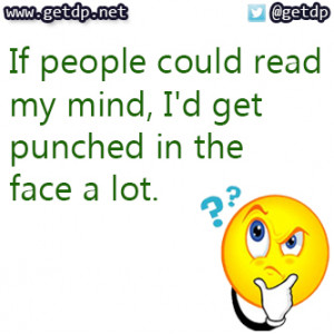 funny quotes about mind reading quotesgram