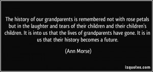 The history of our grandparents is remembered not with rose petals but ...