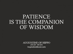 Augustine of Hippo Patience Quotes