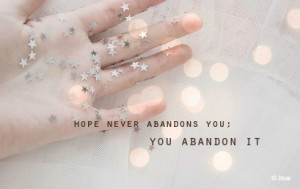 cute, hands, hope, light, quote, stars, text, true, white