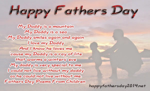 Fathers day poems, poetry with pictures and images