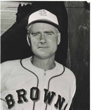 Earle Combs as St. Louis Browns coach in 1947