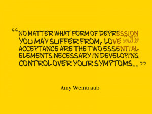 Dealing with depression with the help of motivational quotes