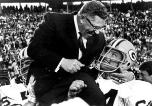 Packers coach Vince Lombardi, who was once a Giant assistant, rides on ...