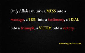 ... testimony, a TRIAL into a triumph, a VICTIM into a victory