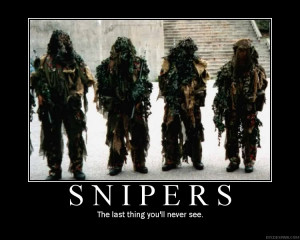 Funny Military Sniper Quotes Vision strike wear military