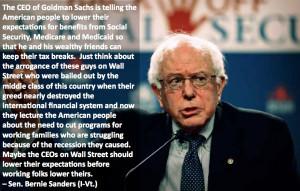 Bernie Sanders Wall Street Standards