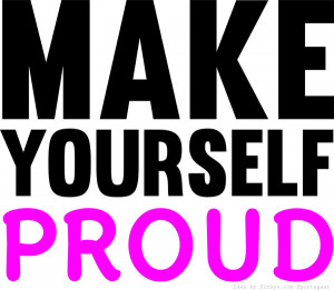 Make Yourself Proud Fitness & Bodybuilding Motivation Quote Art Print