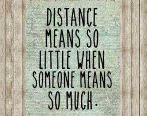 Military Long Distance Relationship Quote 8x10 inches ...