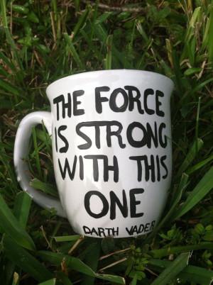 Darth Vader Coffee Mug Funny Coffee Mug by JustABrushAndPaint, $8.00