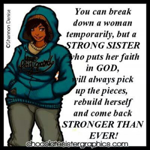 STRONG SISTER, Amen & Glory to God