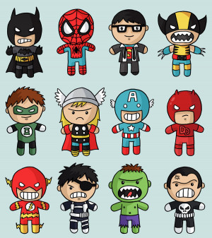 bet each of these pint sized Marvel & DC Superheroes by Jess Bradley ...
