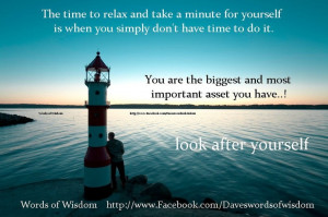 Take time for yourself.
