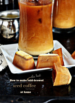 Coffee Ice Cubes are the secret to good iced coffee. Details at ...